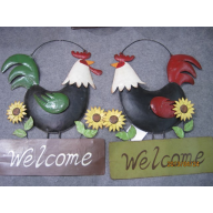 "METAL ROOSTER WALL HANGER 14.255"" X 1.25"" X 16.25"""