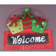 11.5 x 0.75 x 10.25 Metal Welcome Ornament Hanger