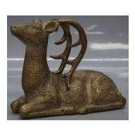 8.625 x 3.75 x 6.75 Deer - Dusty Brown Gold