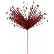 "26 "" Glitter Needles Pine Berry Spray"