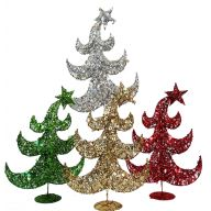 "17"" GLITTER SEQUIN WIRE TREE"