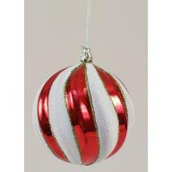 100MM SNOW BALL-RED/WHITE