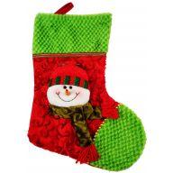 "17 "" Snowman Stocking - Red / Green / White"