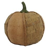 "6.5 X 6.5 X 6.5 "" Burlap And Birch Peel Pumpkin - Natural"