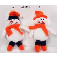 "8"" HANGING AUBURN SNOWMAN (2 ASSORTED)"