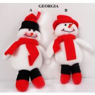 "8"" HANGING GEORGIA SNOWMAN -(2 ASSORTED)"