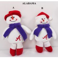 "8"" HANGING ALABAMA SNOWMAN W/ ""A"" (2 ASSORTED)"