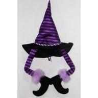 """20 """" Halloween Hat w / Legs - Purple / Black"""