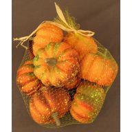 """3.1 x 2 """" Assorted Pumpkins In A Bag ( 8 Per Bag )"""