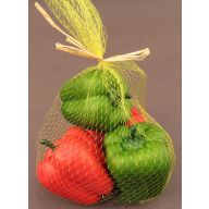 2.5 x 1.5 Assorted Bag Of 4 Bell Peppers - Red & Green