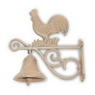 Cast Iron Rooster Door Bell 7.87 x 7.87 x 4.72