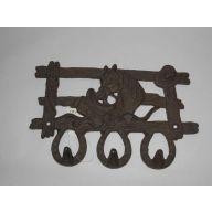 """9.76 X 1.8 X 6.38 """" Horse Hook Cast Iron"""