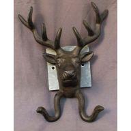 """Deer Head 8.27 X 10.24 X 4.33 """" Cast Iron"""