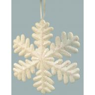 "9 "" Snowflake W / Glitter - White"