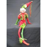 "24 "" Red / Green Sitting Elf"
