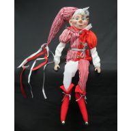 "22"" Red / White Sitting Elf"