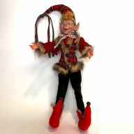 "26"" Elf w/ Plaid Coat"