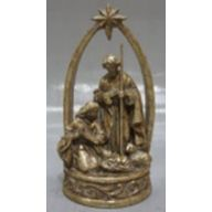 "6.375 X 5.75 X 12.25 "" Holy Family - Brownwash Champagne"
