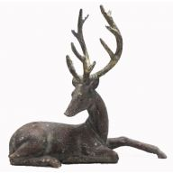 Lying Resin Deer - Distressed Gold Brown