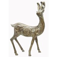 Standing Resin Deer - Dusty Brown Gold
