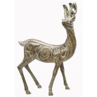 Standing Resin Deer - Dusty Brown Gold