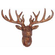 "17 X 13 "" Deer Head - Gold"
