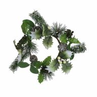 """6"""" Holly Berries Candlering"""