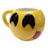 "6.3 "" x 4.72 "" x 3.94 "" Emoji Mug Smiley Face w/ Tongue Out"