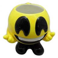 "4.92 "" x 5.12 "" x 4.33 "" Emoji Mug Smiley Face w/ Feet"