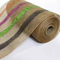 Natural Mesh / Jute / Black / Lime / Purple / Orange Metallic