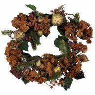 """18"""" Hydrangea Wreath - Copper"""