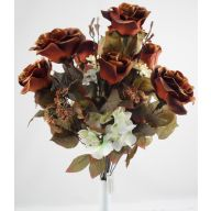 X18 Rose Hydrangea QAL Mix - Brown / Cream