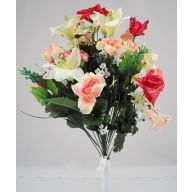 X24 Rose Lily Hydrangea - Red / Peach / White