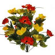 X24 Poppy Bush - Red / Yellow / Green