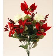 X14 Velvet Poinsettia Mum Holly Berry Mix