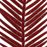 "21"" GLITTER FAN PALM PICK - RED (SOLD BY PACK OF 12 ONLY)"