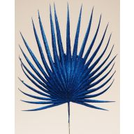 "21"" GLITTER FAN PALM PICK - BLUE (SOLD BY PACK OF 12 ONLY)"