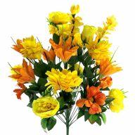 X24 Lily Garden Rose Spider Poppy - Orange / Yellow
