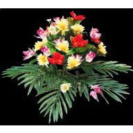 X24 Poppy Orchid Daisy W/ Jade Fern