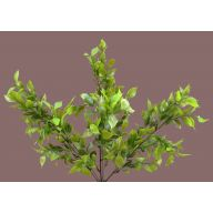 X 7 Plastic Leaf Bush - Green