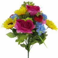 X24 Sunflower Rose Hydrangea Peony Mix