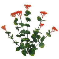 X7 Plastic Jumbo Leaf W Orange Berry Clusters
