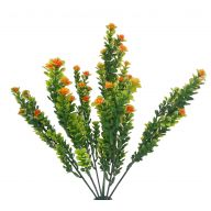 X7 Plastic Mini Shell W / Orange Flower