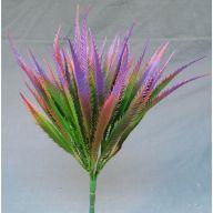X 7 Plastic Mini Sword Fern w / Purple Tip