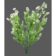 X 12 White Plastic  Baby's Breath - White