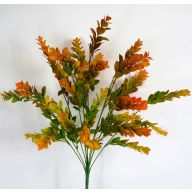 "X12 Leaf Bush 22"" (Plastic) - Orange / Green"