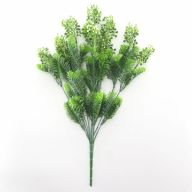 X10 Cone Berry Needle Fern (Plastic) - Frost White