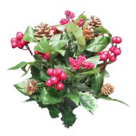 X 18 Holly - Berry - Pinecone Mix