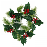 """15"""" Variegated Holly Wreath"""