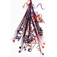 "27 "" Curly Ball Teardrop - Orange / Purple / Black"